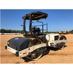 "2007 INGERSOLL RAND DD138HF ROLLER, VIN/SN:194593 - TANDEM, VIBRATORY, 84"" SMOOTH DRUMS, CANOPY, MET"