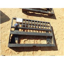 FORK ATTACH FRAME, FITS SKID STEER LOADER (B-5)