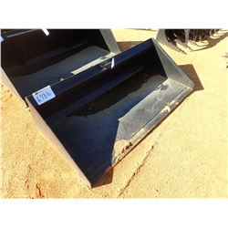 "78"" LOW PROFILE BUCKET W/B.O.C.E., FITS SKID STEER LOADER (B-5)"