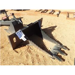 STUMP BUCKET, FITS SKID STEER LOADER (B-5)