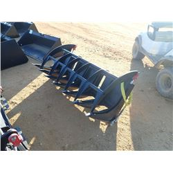 "72"" E-SERIES ROOT RAKE, FITS SKID STEER LOADER (B-5)"