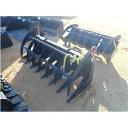 "78"" E-SERIES ROOT RAKE, FITS SKIDS STEER LOADER (B-5)"