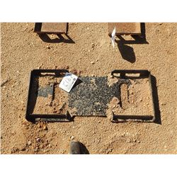 SOLID BACK WELD ON ATTACH PLATE, FITS SKID STEER LOADER (B-5)