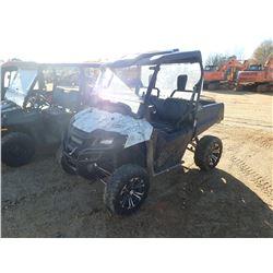 2014 HONDA PIONEER 700 ATV, VIN/SN:1HFVE0283E4200082 - 4X4, GAS ENGINE, CANOPY, WINDSHELD, DUMP BED