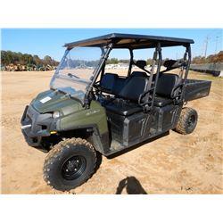 2011 POLARIS RANGER 800 CREW ATV, VIN/SN:4XAWH76AXB3237718 - 4X4, GAS ENGINE, CANOPY, WINDSHIELD, ME