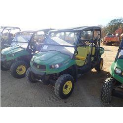2014 JOHN DEERE XUV 550 S4 UTV, VIN/SN:1M0550FBAEM030462 - 4X4, CREW CAB, DUMP BED, WINDSHIELD, CANO