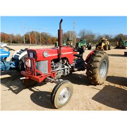 MASSEY FERGUSON 165 FARM TRACTOR, VIN/SN:SDW643001540 - METER READING 4,653 HOURS