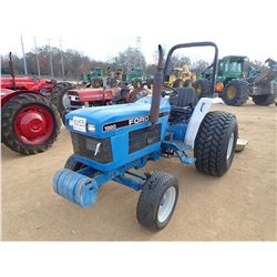FORD 1920 FARM TRACTOR, VIN/SN:UP37116 - ROLL BAR, 3 PTH, 18.4-16.1 TURF TIRES, METER READING 704 HO