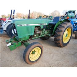JOHN DEERE 1050 FARM TRACTOR, VIN/SN:001099 - 13.6-28 TIRES, METER READING 3,082 HOURS