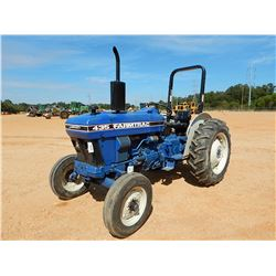 FARMTRAC 435 FARM TRACTOR, VIN/SN:2056470 - ROLL BAR, METER READING 1,381 HOURS
