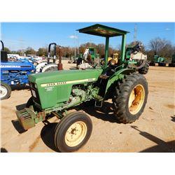 JOHN DEERE 950 FARM TRACTOR, VIN/SN:004254 - CANOPY, METER READING 1,947 HOURS
