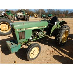 JOHN DEERE 850 FARM TRACTOR, VIN/SN:019580 - METER READING 3,326 HOURS