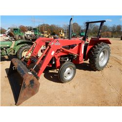 MASSEY FERGUSON 231 FARM TRACTOR, VIN/SN:51027 - MASSEY 232 FRONT LOADER ATTACH, BUCKET, ROLL BAR, M
