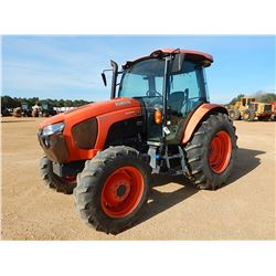 2015 KUBOTA M5-111 FARM TRACTOR, VIN/SN:51505 - MFWD, 3 REMOTES, CAB, A/C, 18.4-30 TIRES, METER READ