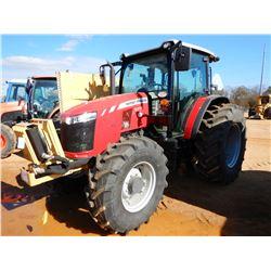 2018 MASSEY FERGUSON 5711 FARM TRACTOR, VIN/SN:H5118010 - MFWD, 3 REMOTES, DIAMOND MOWERS 5.5' REAR
