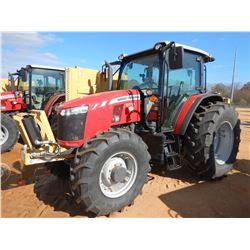 2018 MASSEY FERGUSON 5711 FARM TRACTOR, VIN/SN:AJ5178022 - MFWD, 3 REMOTES, DIAMOND MOWERS 5.5' REAR
