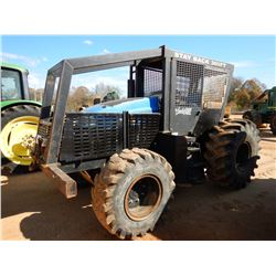 NEW HOLLAND TS6-120 FARM TRACTOR, VIN/SN:N403328M - MFWD, 2 REMOTES, CANOPY, FORESTRY PKG, WINCH, ME
