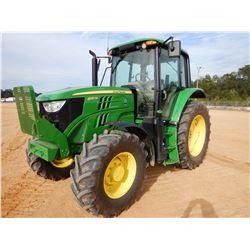 2018 JOHN DEERE 6130M FARM TRACTOR, VIN/SN:906273 - MFWD, 3 REMOTES, CAB, A/C, 480/70R38 REAR TIRES,