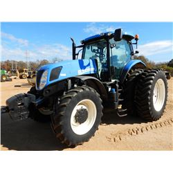 NEW HOLLAND T7250 FARM TRACTOR, VIN/SN:ZNBZ14628 - MFWD, 4 REMOTES, QUICK HITCH, CAB, A/C, 18.4R24 D