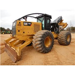 2016 CAT 535D SKIDDER, VIN/SN:MTP00335 - GRAPPLE, DUAL ARCH, CAB, A/C, 73X44.00-32 TIRES, METER READ