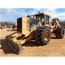 2016 TIGERCAT 620E SKIDDER, VIN/SN:6206864 GRAPPLE, DUAL ARCH, WINCH, CAB, A/C, 30.5L32 TIRES, METER
