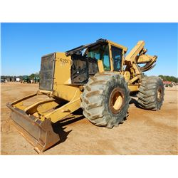 2009 TIGERCAT E620C SKIDDER, VIN/SN:6205115 - GRAPPLE, DUAL ARCH, WINCH, CAB, A/C, 35.5L-32 TIRES