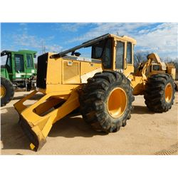 JOHN DEERE 648G GRAPPLE SKIDDER, VIN/SN:556748 - CABLE, WINCH, CAB, 30.5L-32 TIRES