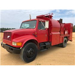 1990 INTERNATIONAL FUEL & LUBE TRUCK, VIN/SN:1HTSDZ6N2LH253186 - S/A, IHC DIESEL ENGINE, 10 SPEED TR