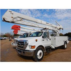 2007 FORD F750 BUCKET TRUCK, VIN/SN:3FRXF75R57V521616 - S/A, CAT C7 DIESEL ENGINE, ALLISON A/T, AIR