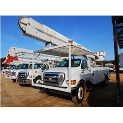 2007 FORD F750 BUCKET TRUCK, VIN/SN:3FRXF75R57V479405 - S/A, CAT C7 ENGINE, 7 SPEED TRANS, AIR BRAKE