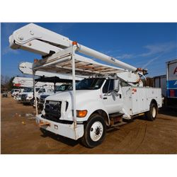 2006 FORD F750 BUCKET TRUCK, VIN/SN:3FRXF76S16V376238 - S/A, CAT C7 DIESEL ENGINE, 7 SPEED TRANS, AI