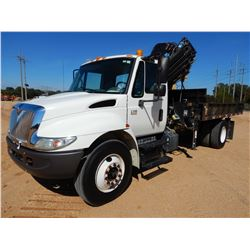 2007 INTERNATIONAL 4300 CRANE TRUCK, VIN/SN:1HTMMAAR57H423079 - S/A, IHC DIESEL ENGINE, ALLSION A/T,
