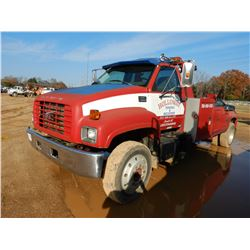 1997 GMC C6500 WRECKER, VIN/SN:1GDK6H1J1VJ518483 - S/A, 3116 CAT DIESEL ENGINE, 6 SPEED TRANS, WRECK