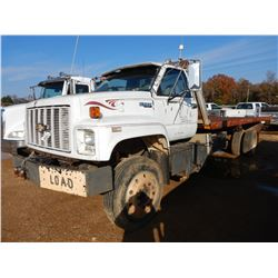 1992 CHEVROLET KODIAK ROLL BACK TRUCK, VIN/SN:1GBM7H1J7NJ109371 - S/A, CAT DIESEL ENGINE, A/T, GVWR