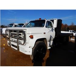 1986 GMC 7000 ROLL BACK TRUCK, VIN/SN:1GTK7D1FXGV507595 - S/A, DIESEL ENGINE, 5 SPEED TRANS, 25,600L