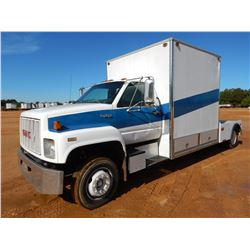 1992 GMC TOPKICK UTILITY TRUCK, VIN/SN:1GDJ6H1PXNJ504095 - GAS ENGINE, A/T, ENCLOSED UTILITY BODY, 8