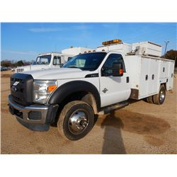 2016 FORD F550 SERVICE TRUCK, VIN/SN:1FDUF5HT0GED16082 -4X4, POWER STROKE DIESEL ENG, A/T, MAINTAINE