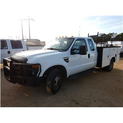 2008 FORD F350 SERVICE TRUCK, VIN/SN:1FDWX36Y18ED92761 - EXT CAB, GAS ENGINE, A/T, KNAPHEIDE SERVICE