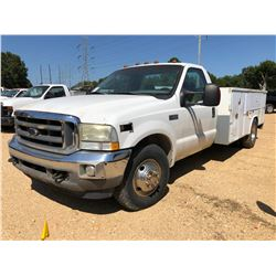 2004 FORD F350 SERVICE TRUCK, VIN/SN:1FDWF36P24EA30586 - DIESEL ENGINE, A/T, READING SERVICE BODY, O