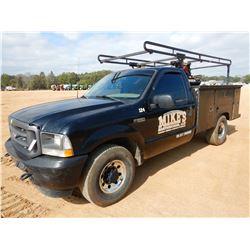 2003 FORD F250 SERVICE TRUCK, VIN/SN:1FDNF20L73ED41456 - GAS ENGINE, A/T, KNAPHEIDE SERVICE BODY, AI