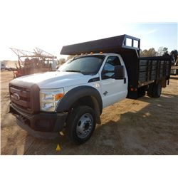 "2012 FORD F550 FLATBED TRUCK, VIN/SN:1FDUF5GT7CEB45861 - POWERSTROKE DIESEL ENGINE, A/T, 16' 6"" FLAT"