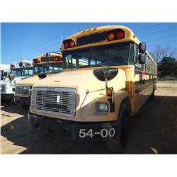 2001 FREIGHTLINER BLUE BIRD SCHOOL BUS, VIN/SN:4UZ6CFAA11CG31799 - S/A, DIESEL ENGINE, A/T, 49 PASSE