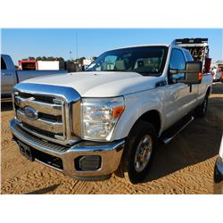 2014 FORD F250 PICKUP TRUCK, VIN/SN:1FT7X2A6XEEB43119 - EXT CAB, GAS ENGINE, A/T, ODOMETER READING 1