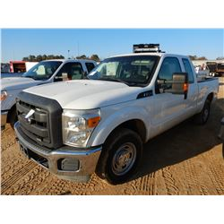 2013 FORD F250 PICKUP, VIN/SN:1FT7X2A60DEB37389 -EXTENDED CAB, GAS ENG, A/T, ODOMETER READING 68,249