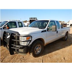 2012 FORD F250 PICK UP, VIN/SN:1FT7X2A66CEA59957 - EXTENDED CAB, GAS ENGINE, A/T, ODOMETER READING 1