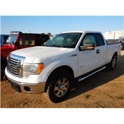 2012 FORD F150 PICKUP TRUCK, VIN/SN:1FTFX1ET0CFD03702 - 4X4, EXT CAB, GAS ENGINE, A/T, ODOMETER READ