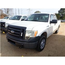2011 FORD F150 PICKUP TRUCK, VIN/SN:1FTEX1EM2BFB042484 - 4X4, EXT CAB, GAS ENGINE, A/T, ODOMETER REA