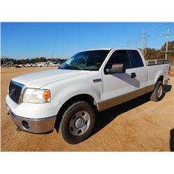 2008 FORD F150 PICKUP TRUCK, VIN/SN:1FTPX14V88FA33679 - 4X4, EXTENDED CAB, V8 GAS ENGINE, A/T, TOOL