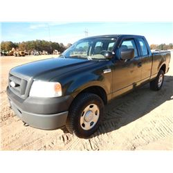 2006 FORD F150 PICKUP TRUCK, VIN/SN:1FTPX14V66NB40409 - 4X4, EXT CAB, GAS ENGINE, A/T, ODOMETER READ