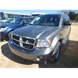 2009 DODGE DURANGO VIN/SN:1D8HD38P79F710695 - GAS ENGINE, A/T, ODOMETER READING 180,064 MILES